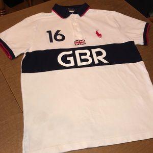 Ralph Lauren Great Britain Polo Shirt Size M READ
